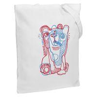 Холщовая сумка «Биполярный медведь», молочно-белая