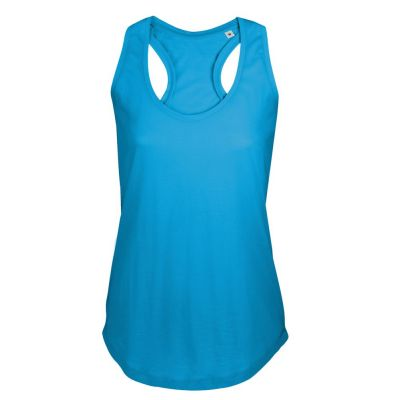 Майка женская MOKA 110, ярко-голубая