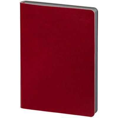 Ежедневник Slip, недатированный, красный с серым