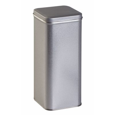 Коробка прямоугольная, высокая, серебристая