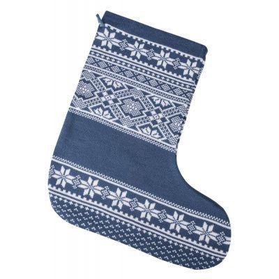 Новогодний носок «Скандик», синий (индиго)