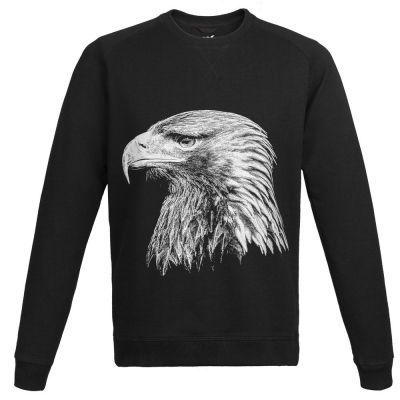 Свитшот мужской Like an Eagle, черный