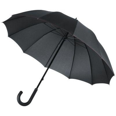 Зонт-трость Lui, черный с красным
