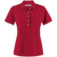 Рубашка поло женская Sunset, красная