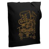 Холщовая сумка John Steampunk, черная