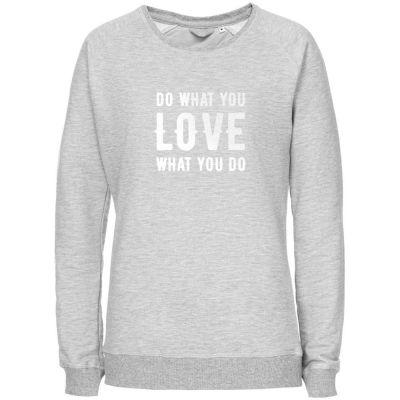 Свитшот женский Do Love, серый меланж