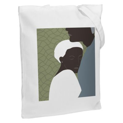 Холщовая сумка «Пара», молочно-белая