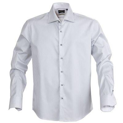 Рубашка мужская в полоску RENO, серая
