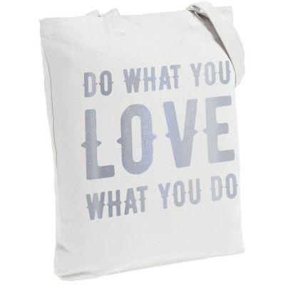 Холщовая сумка Do Love, молочно-белая