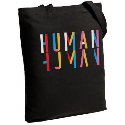 Холщовая сумка Human, черная