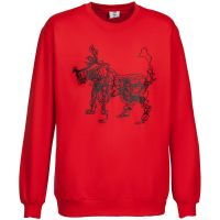 Толстовка «Собака Каляка», красная