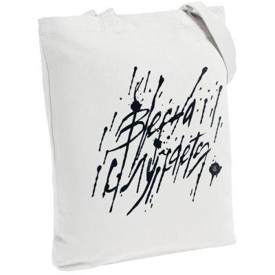 Холщовая сумка «Весна случается», молочно-белая