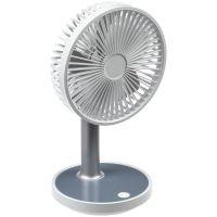 Настольный беспроводной вентилятор с подсветкой inBreeze, белый c серым