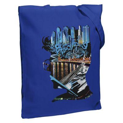 Холщовая сумка Moscow Boy, ярко-синяя