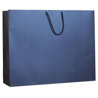 Пакет бумажный «Блеск», большой, синий