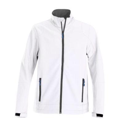 Куртка софтшелл мужская TRIAL, белая