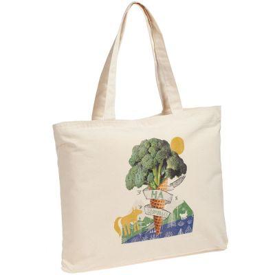 Холщовая сумка с молнией «На здоровье!», неокрашенная