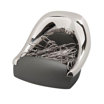 Подставка для  скрепок 'КРЕСЛО'; 7,2х6,5х5,1 см; металл; лазерная гравировка, серебристый