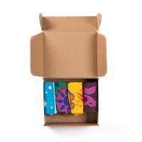 Подарочный набор '4 сезона', 4 пары тематических носков и авторский календарь, белый