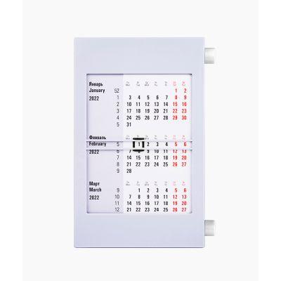 Календарь настольный на 2 года, белый, серый