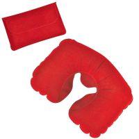 Подушка надувная дорожная в футляре, красный