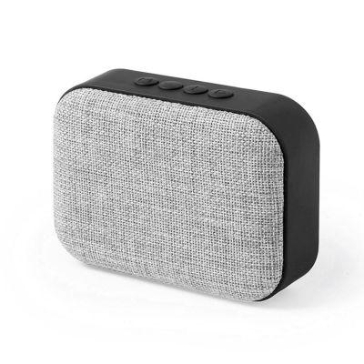 Bluetooth колонка FABRIC прямоугольная, черный, серый
