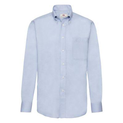 Рубашка мужская LONG SLEEVE OXFORD SHIRT 135, голубой
