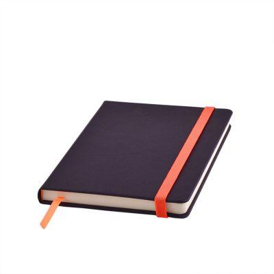 Ежедневник недатированный RAY, формат А5, черный, оранжевый
