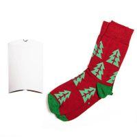 Подарочный набор  'Елки', упаковка, прищепка с шильдом, календарь 2019, носки тематические, красный