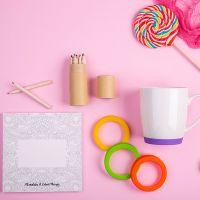 Набор подарочный IMPRESSIONISTA: альбом, набор цветных карандашей, кружка, разные цвета
