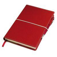 Бизнес-блокнот 'BUSINESS', 130*210 мм, красный,  обложка портфолио,  блок-линейка, тиснение