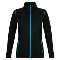 Толстовка женская флисовая NOVA WOMEN 200, черный, голубой