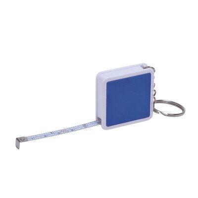 Брелок 'Hit' с рулеткой (1м), синий, белый