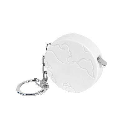 Брелок-рулетка 'Земля' (1 м), белый