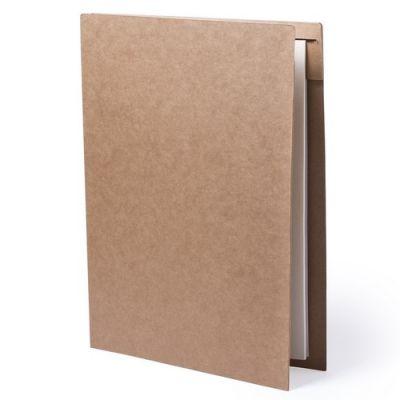 Папка BLOGUER A4 с бумажным блоком и ручкой, рециклированый картон, бежевый