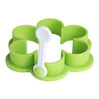 Формочка для приготовления яичницы 'Цветок', зеленый