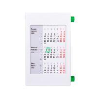 Календарь настольный на 2 года, зеленый, белый