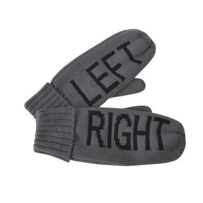 Рукавицы мужские  'LEFT&RIGHT' с теплой подкладкой, серый