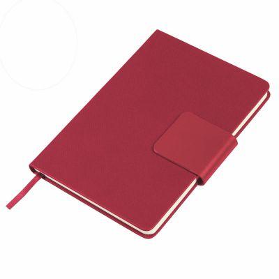 Ежедневник недатированный Stevie, А5,  красный, кремовый блок, без обреза