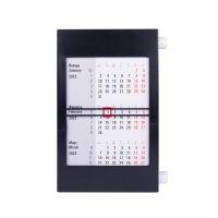 Календарь настольный на 2 года, белый, черный
