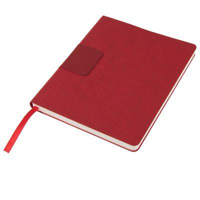 Бизнес-блокнот 'Tweedi', 150х180 мм, красный, кремовая бумага, гибкая обложка, в линейку