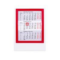 Календарь настольный на 2 года, красный, белый