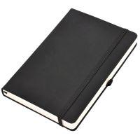 Бизнес-блокнот  'Silky', формат А5,  обложка твердая,  блок в клетку, черный