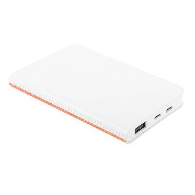 Универсальное зарядное устройство FRANKY (4000mAh), белый, оранжевый