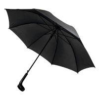 Зонт-трость LIVERPOOL с ручкой-держателем, полуавтомат, черный