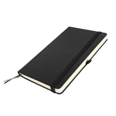 Бизнес-блокнот GLORI, A5, черный, твердая обложка, в линейку