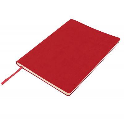 Бизнес-блокнот 'Biggy', B5 формат, красный, серый форзац, мягкая обложка, в клетку