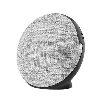 Bluetooth колонка FABRIC круглая, черный, серый