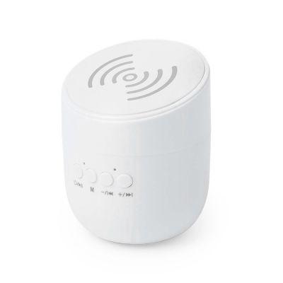 Bluetooth колонка со встроенной беспроводной зарядкй Dortam, белый