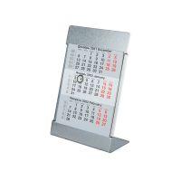 Календарь настольный на 2 года; размер 18*11,5 см, цвет- серебро, сталь, серебристый